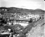 Picture relating to Weston Creek - titled 'Weston Creek Sewerage Treatment Works - Construction of sedimentation and activated sludge tanks'