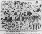 Picture relating to Queensland - titled 'Christmas pudding cartoon in the 1884 Christmas edition of The Figaro'