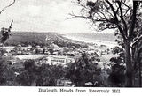 Picture relating to Gold Coast - titled 'Burleigh Heads from Reservoir Hill 1940's'