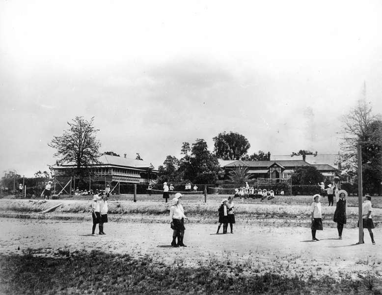 Picture of / about 'Warwick' Queensland - Girls playing in the grounds of the Presbyterian Girl's College, Warwick