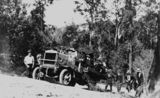 Picture relating to Conondale Range - titled 'Burt Brothers' truck travelling up the Conondale Range to Jimna for a picnic, 1923'