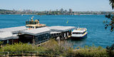 Picture relating to Sydney - titled 'Taronga Park Zoo Wharf. Sydney Harbour.'