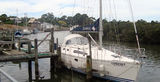 Picture relating to Port Franklin - titled 'Boats in the Franklin River Port Franklin Victoria'