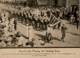 Picture relating to Brisbane - titled 'Patriotic Day parade passing through Brisbane streets, 1915'