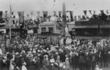 Picture relating to Beaudesert - titled 'Unveiling of the Beaudesert War Memorial by Sir Matthew Nathan, 1921'