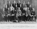 Picture relating to Brisbane - titled 'Group portrait of boys who have won scholarships to study in Brisbane, in 1909'
