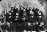 Picture relating to Toowoomba - titled 'Studio portrait of the staff of the Toowoomba newspaper, The Toowoomba Chronicle'