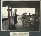 Picture relating to Yungaburra - titled 'Classes on the verandah at Yungaburra State School, ca. 1928'
