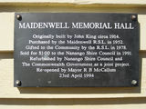 Picture relating to Maidenwell - titled 'Maidenwell Memorial Hall'