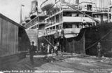 Picture of / about 'Brisbane' Queensland - Asturias (ship) docked at Brisbane, ca. 1907