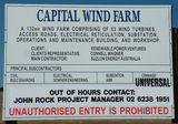 Picture relating to Hammonds Hill - titled 'Capital Wind Farm Project Sign'