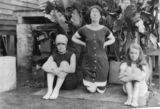 Picture relating to Childers - titled 'Three females wearing bathing suits in Childers, 1915'