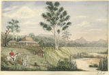 Picture relating to Mackay - titled 'Shamrock Vale, a watercolour by Charles Collinson Rawson'