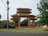Picture relating to Lyneham - titled 'Buddist Centre Entrance Ceremonial Pagoda'