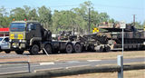 Picture relating to Coolalinga - titled 'Army truck and tank Coolalinga NT'