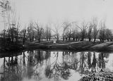 Picture relating to Molonglo River - titled 'Golf Links, Molonglo River, winter scene.'