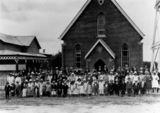 Picture relating to Charters Towers - titled 'Church of Christ at Charters Towers in 1930'