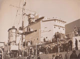 Picture relating to Brisbane - titled 'Brisbane, Military ship public open day 1930's'