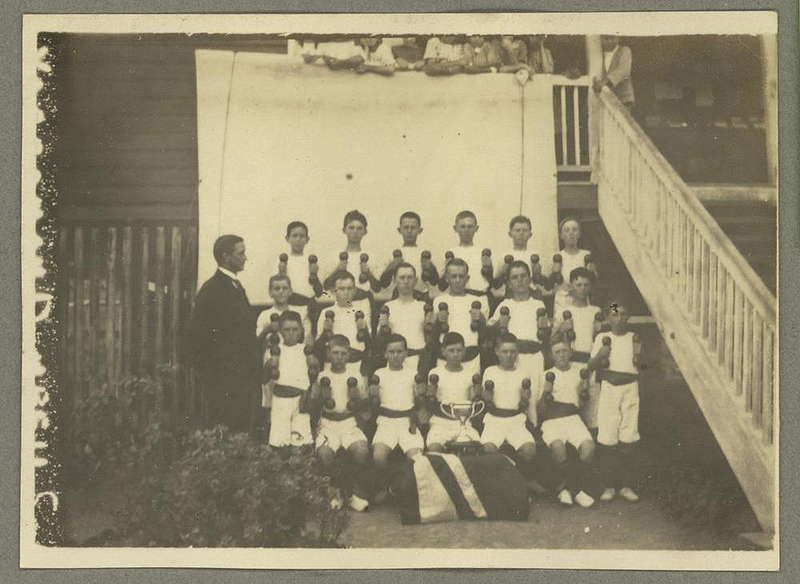 Picture of / about 'Yarraman' Queensland - Yarraman School's dumbell squad
