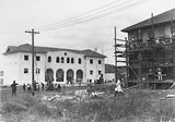 Picture relating to Manuka - titled 'St Christopher's Convent, Franklin Street, Manuka - under construction.'