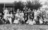 Picture relating to Blackall - titled 'Portrait of schoolchildren at the Blackall State School, Blackall, Queensland,ca.1910'