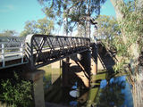 Picture relating to Wilcannia - titled 'Wilcannia-  Darling River and old lift bridge'