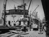 Picture of / about 'Brisbane' Queensland - Ships loading at Eagle Street Wharves, Brisbane, Queensland, ca. 1935