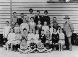 Picture relating to Urangan - titled 'Students from Urangan Farms State School, Hervey Bay, Queensland, ca. 1900'