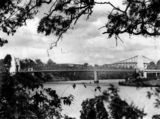 Picture relating to Indooroopilly - titled 'Indooroopilly Toll Bridge over the Brisbane River, 1937'