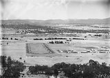 Picture of / about 'Parliament House' the Australian Capital Territory - View from Mt Ainslie along Anzac Parade and Reid to Old Parliament House