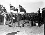 Picture relating to Canberra - titled 'Visit to Canberra by Young Australia League boys from Western Australia. Tree planting ceremonies.'
