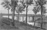 Picture of / about 'Bremer River' Queensland - Sketch of the railway bridge over the Bremer River on the Ipswich line, ca. 1866