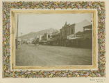 Picture relating to Townsville - titled 'Looking along Flinders Street towards Castle Hill, Townsville, ca. 1913'