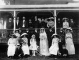 Picture relating to Queensland - titled 'Fashionable wedding group, ca. 1911'