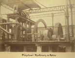 Picture relating to Mackay - titled 'Pleystowe Sugar Mill machinery in motion, ca.1880'