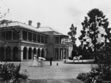 Picture of / about 'Brisbane' Queensland - View of Government House in George Street, Brisbane, ca. 1895