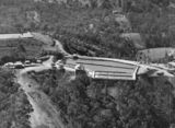 Picture relating to Mount Crosby - titled 'Low Level Reservoir viewed from the air, part of the Mount Crosby pumping station, Brisbane, Queensland, 1948'