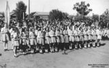 Picture relating to Charleville - titled 'School children at Charleville for the Royal Visit, 1946'