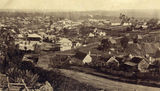 Picture relating to Gympie - titled 'Gympie from the Three Mile during the gold mining boom'