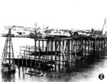 Picture relating to Brisbane - titled 'Construction of the second temporary Victoria Bridge, 1893'