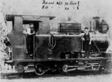 Picture relating to Mount Morgan - titled 'ABT rack locomotive at Mount Morgan, Queensland, ca.1890-1900'