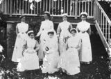 Picture relating to Chillagoe - titled 'Nursing staff at Chillagoe'