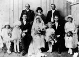 Picture relating to Cloncurry - titled 'Wedding of Mary Hinckle and Joseph Powers, ca. 1923'