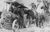 Picture relating to Stanthorpe - titled 'Steam engine hauling a 10 ton boiler, Stanthorpe, ca. 1910'