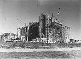 Picture relating to Forrest - titled 'St Andrew's Presbyterian Church under construction. State Circle Forrest.'