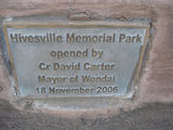 Picture relating to Hivesville - titled 'Hivesville Memorial Park'