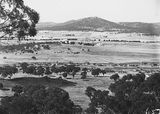 Picture relating to Capital Hill - titled 'View from Red Hill to Mount Ainslie over Capital Hill and Anzac Parade, East Block Offices in centre.'
