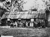 Picture relating to Stanthorpe - titled 'Stanthorpe's first school, ca. 1872'