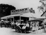 Picture relating to Kilcoy - titled 'Stopping for refreshments at Duncan's Cafe in Kilcoy, ca. 1920'