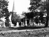 Picture relating to Anzac Parade - titled 'St John's Church, Constitution Avenue, Reid, from Anzac Parade.'